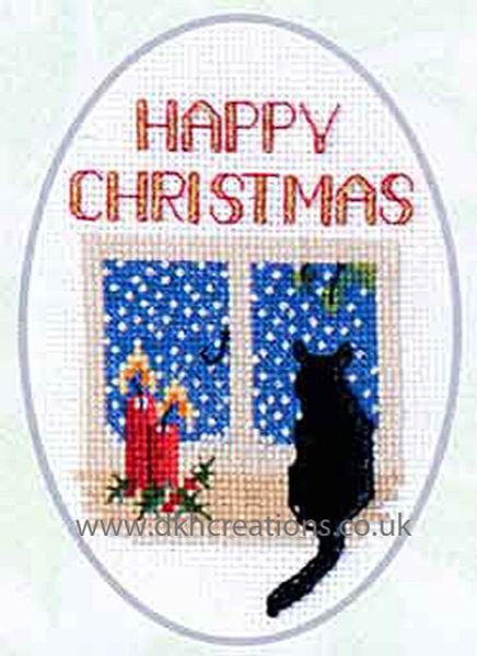 Christmas Cat Card Cross Stitch Kit